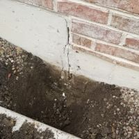 Foundation cracks and epoxy