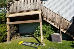 outdoor deck staining painting